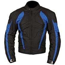 Milano Sport Gamma Motorcycle Jacket with Blue Accent (Black, XXX-Large)
