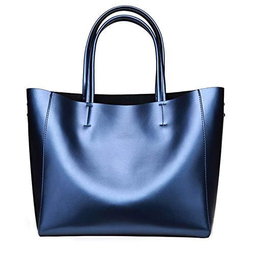 Sac à Capacité à Sac Main Main à Grande Bandoulière PU Dames Simple Mode Décontracté Blue Sac Sac Sauvage Shopping vqXIcw1OBq