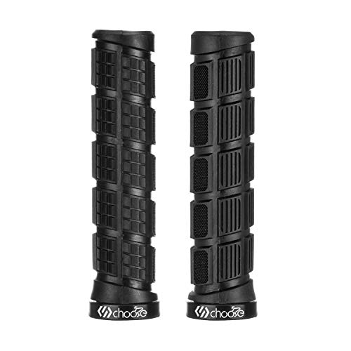 Choose Mountain Bike Grips,MTB Grips,Bicycle Handlebar Grips,Lock on Grips Black