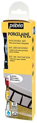 - PEBEO Porcelaine 150 Discovery Set Assorted China Paint Colors, 6 x 20 ml