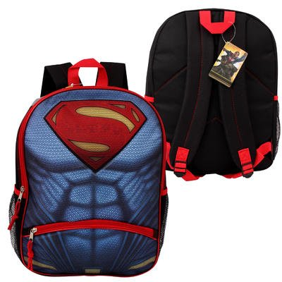 DC-Superman-Logo-Backpack-with-Pencil-Pocket-16-L