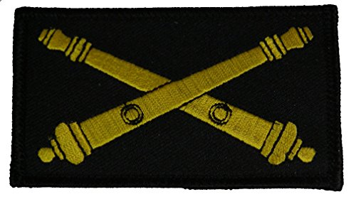 U.S. ARMY ARTILLERY CROSSED CANNONS 2 PIECE PATCH - Subdued