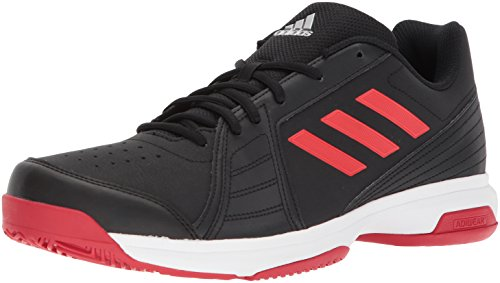 adidas Originals Men's Approach Tennis Shoe, Core Black/Scarlet/White, 12 M US