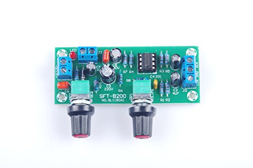 KNACRO DC 10V-24V Low-pass Filter NE5532 Bass Tone Subwoofer Pre-Amplifier Preamp Board