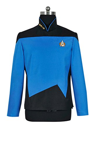 DreamDance Star Trek TNG Cosplay Sciences Uniform Costume Blue L ()