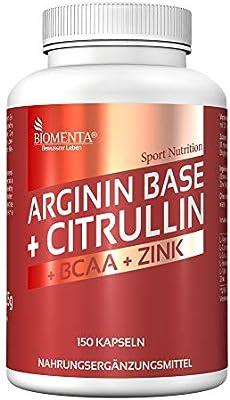 BIOMENTA L-ARGININA CITRULINA MALATO | 3.500 mg L-Arginina Base + ...