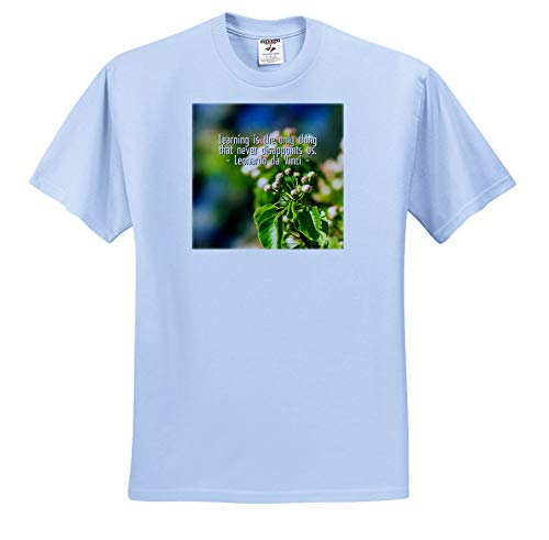 - Alexis Design - Quotes Leonardo da Vinci - Learning is The only Thing. da Vinci Quote, Apple Flower Buds - T-Shirts - Toddler Light-Blue-T-Shirt (4T) (ts_303746_65)