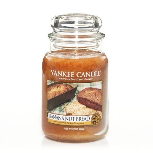 Banana Nut Bread 22oz Large Jar Yankee Candle Yankee Candle Company 115534