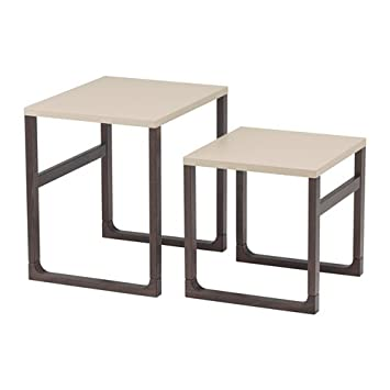 Amazon.com: Ikea Rissna Nesting Tables, Set Of 2, Beige: Kitchen ...