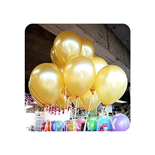 5pcs 12inch 2.2g Black Latex Heart Balloons Inflatable Wedding Ballon Children Birthday Party Decoration Air Ball Party Supplies,A5 Gold Round,1.8g