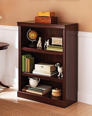 Better Homes & Gardens 39u0022 Ashwood Road 3-Shelf Bookcase, Cherry Finish