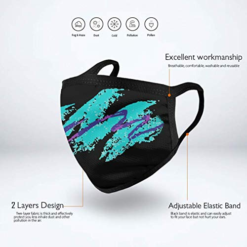 Solo Cup Jazz Pattern Dust Mask Anti Pollution Face Mask Washable Mouth Mask Men And Women For All Ages Black