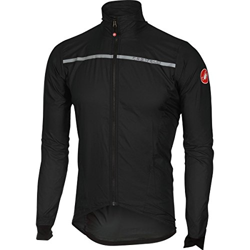 Castelli Superleggera Jacket - Men's Black, (Mens Technical Cycling Jackets)