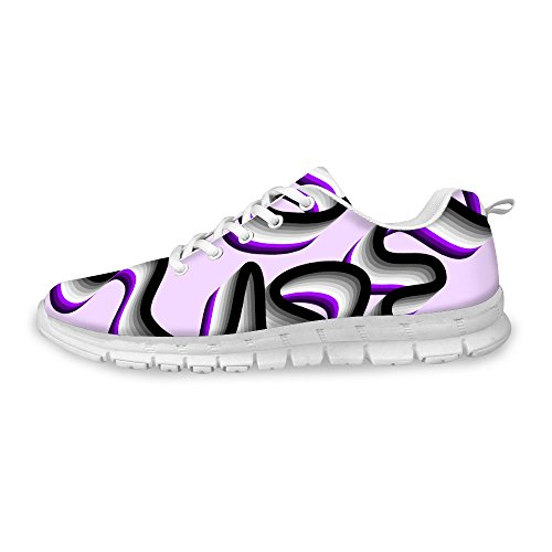 För U Designar Snygga Kvinna Mode Sneaker Flex Ljus Mesh Andas Löparskor Lila