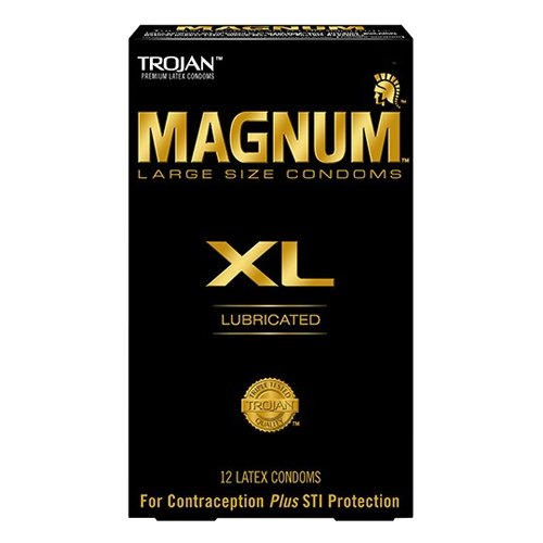 Trojan Magnum XL Large Size Lubricated Condoms - 12 Count