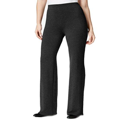 JM Collection Petite Relaxed-Fit Soft Pants Black