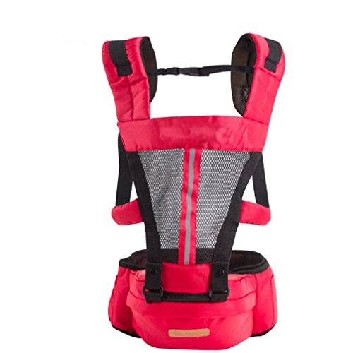 Top Baby Sling Baby Backpack Hip Seat Red - 9