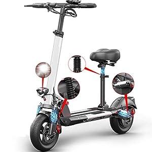 TB-Scooter Monopattino Elettrico Pieghevole, velocità Massima 45km/h, Autonomia 40km, Motore 500W, 10 Pollici Anti-Skid…