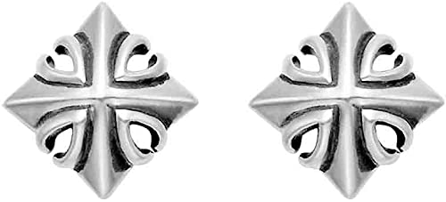 Wildthings Ltd Sterling Silver Cross Stud Earrings