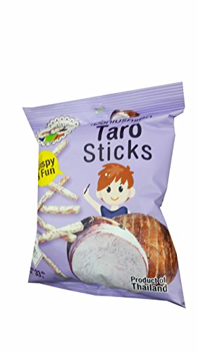 5 packs of Taro Sticks, Crispy Taro by Mae Napa, Healthy and Delicious Snack. Premium quality snack from Thailand.(33 g/ (Veggie Platter Ideas For Halloween)