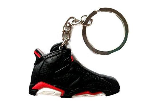Air Jordan Shoe Key Chain Generation 6 VI Black Red White Colors