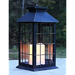 Seraphic Country Style Rustic Metal Lantern with F