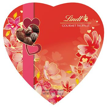 Valentine Gourmet Truffles Chocolate Passion Gift Heart, 11.7oz