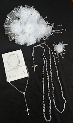 Bible Bouquet - Our Wedding Bundle with Bouquet, Bible, Lasso, Rosary and Corsage