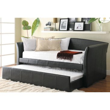 Homelegance Meyer 4956PU* Daybed w/Trundle, Dark Brown Bi-Cast Vinyl