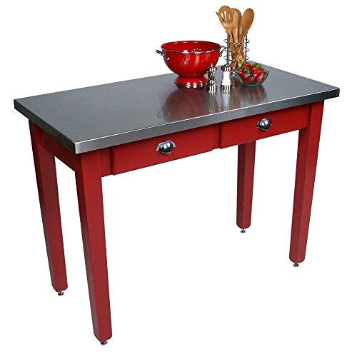 (John Boos MIL Cucina Americana Milano Prep Table in Barn Red Size: 60x30x30)