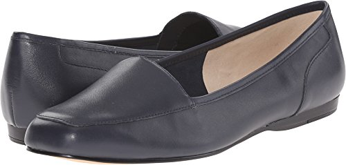 Bandolino Women's Liberty Flat,Navy Leather,US 10.5 N