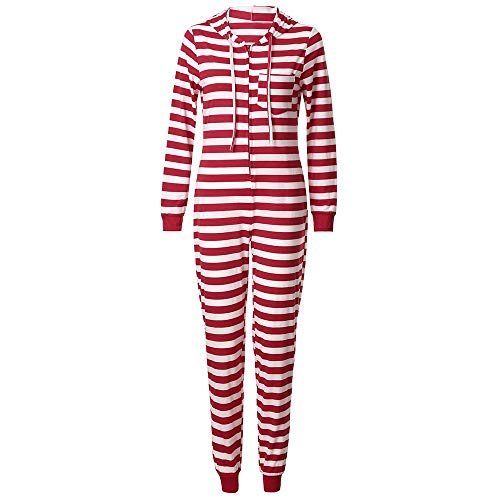 Littay Christmas Mommy&Daddy&Me Daddy Men Striped Print Hooded Jumpsuit Set Clothes Women Family Kids Boys Hoooded Romper