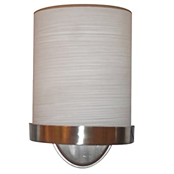 Allen Roth Merington 65 In W 1 Light Brushed Nickel Pocket Hardwired Wall