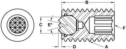 Super Fine M20 x 50 mm Fairlane MTBU-20070-S Threaded Design Swivot