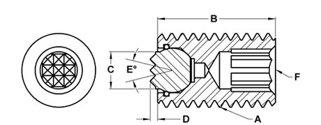 Super Fine M12 x 50 mm Fairlane MTBU-12050-S Threaded Design Swivot
