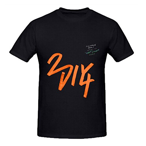 Lana Del Rey West Coast Electronica Album Men Crew Neck Cotton Shirts Black