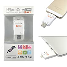 TFZ? TR1-B8 I Flash Drive HD USB Dual Connector Card Reader for iPhone5S/6/6S/Plus iPad4 Air Mini Mini2 iPod Touch 5 with APP and 8GB Space Memory Built in