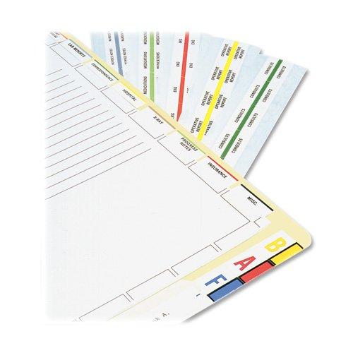 Medical Index Divider Sheets, 7 HP, Letter, 400/BX, White, Sold as 1 Box - Tabbies Medical Index Divider Sheets, 7 HP, Letter, 400/BX, White by Tabbies