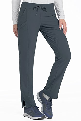 746fc523b2801 Med Couture Women's 4-Ever Flex Stretch 2 Cargo Pocket Slim Fit Scrub Pant,  Pewter, Small Tall