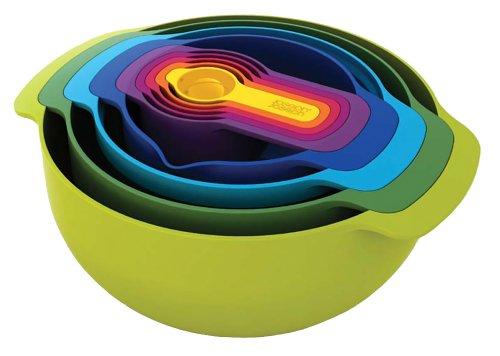 [-Measuring spoon old bowl large and small, dish drainer,] 400373 Joseph Joseph Nest 9 plus 9 piece set (japan import)