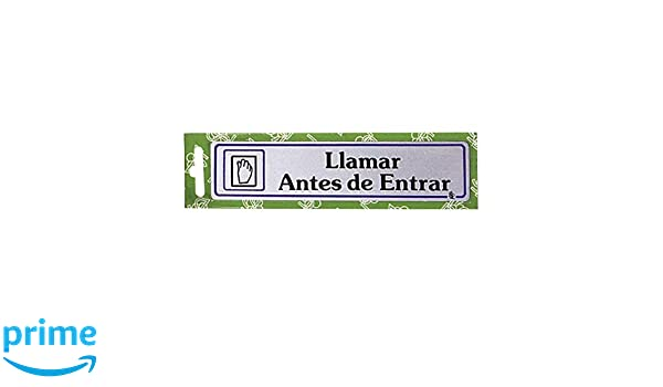 WOLFPACK Rotulo Llamar Antes De Entrar: Amazon.es: Hogar
