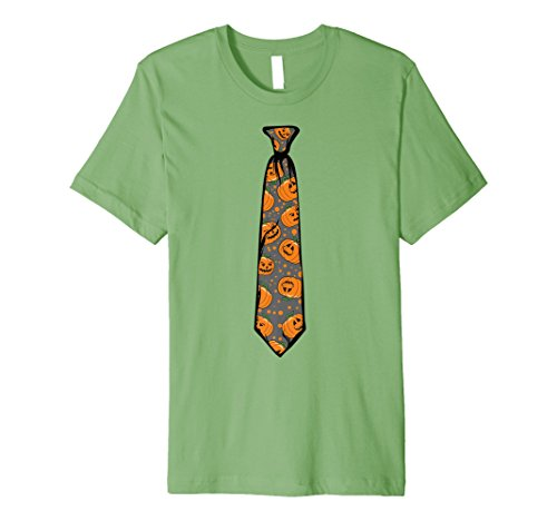 Halloween Pumpkin Tie Shirt | Cool Scary Necktie Tee (Grave Digger Outfit)
