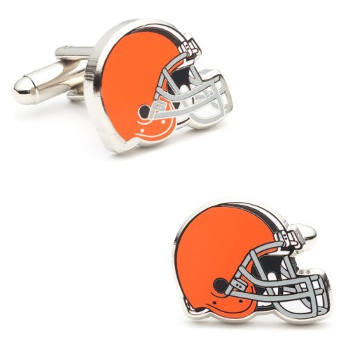 NFL Cleveland Browns Plated Cufflinks (Team Colors)