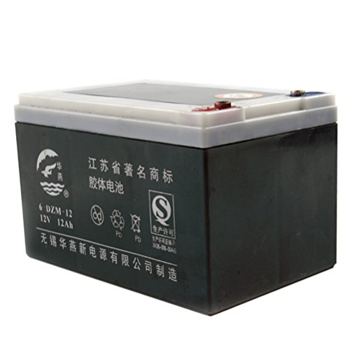JCMOTO 12V 12Ah 6-DZM-12 Rechargeable Battery for Electric Bike Scooter GO Kart