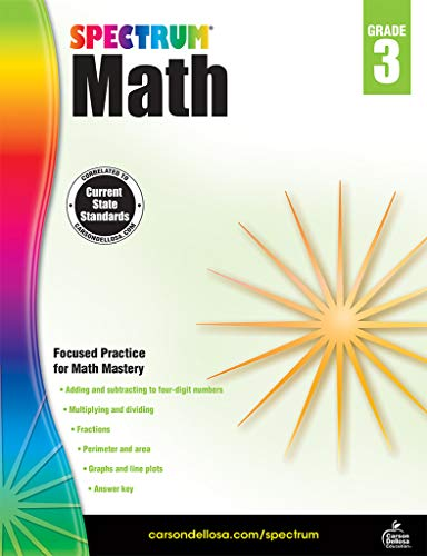 Spectrum Math Workbook, Grade 3 (2nd Grade End Of Year Math Test)