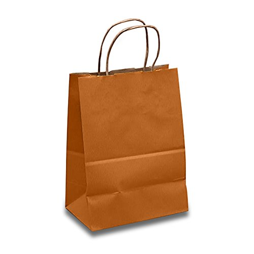 Tan Paper Gift Bags | Quantity: 250 | Width: 8'' Gusset - 4 3/4 by Paper Mart