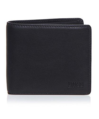 Hugo Boss Men's Bardio Leather Bifold Wallet, OS, Black