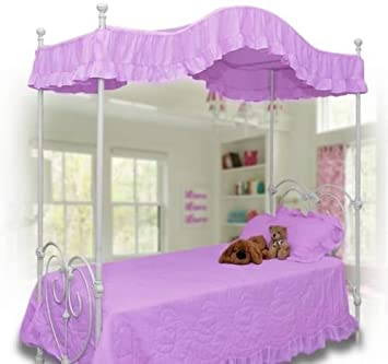 pink canopy bed cover twin size lavender - Twin Size Canopy Bed Frame