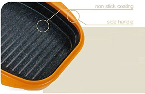 Range Mate Nonstick Grill Pan for Microwave Cooking Lid Enhanced Product Microwavable Cooker for Steak Grilled Salmon Pork Cutlet Dumplings Fish Dishes Eggs by Range Mate (Image #1)