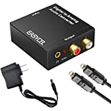 Easycel Audio Digital to Analog Converter DAC with 3.5mm Jack, Optical SPDIF Toslink Coaxial to Analog Stereo L/R Converter with Optical Cable and Power Adapter for PS3 PS4 Xbox Roku